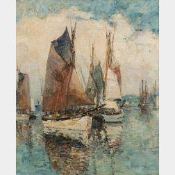 Paul Bernard King (American, 1867-1947)      Concarneau, France