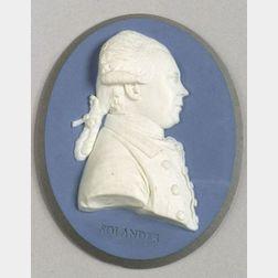 Wedgwood & Bentley Laminated Blue Jasper Portrait Medallion of Dr. Solander