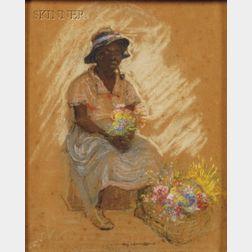 Elizabeth Quale O'Neill Verner (American, 1883-1979)      Selling Flowers