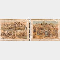 Set of Lithographed Paper-on-Wood Jigsaw Puzzles
