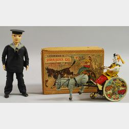 Lehmann Tin Toy Sailor and The Balky Mule in Box