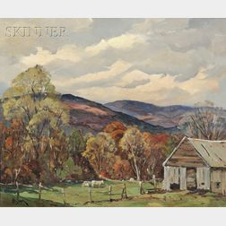 Otis Pierce Cook, Jr. (American, 1900-1980)      Early Fall in New England