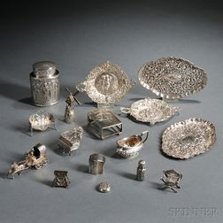 Sixteen Pieces of Silver Hollowware