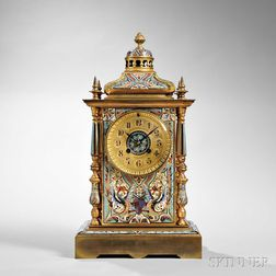 French Champleve Shelf Clock