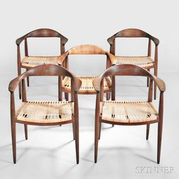 "Five Hans Wegner ""The"" Chairs"