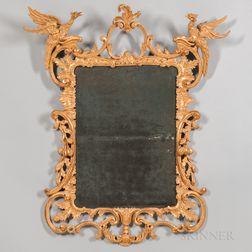 George III Carved Giltwood Mirror