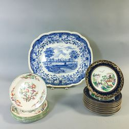 Small Group of Wedgwood and Crown Staffordshire Dishes
