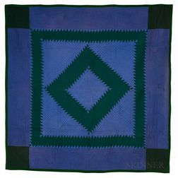 Amish Diamond Pattern Quilt