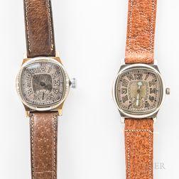 "Two Illinois Watch Co. ""Major"" Wristwatches"