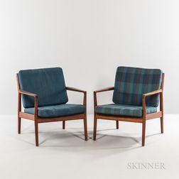 Two Borge Jensen & Son Lounge Chairs