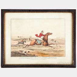 Set of Seven Hand-colored Hunting Lithographs