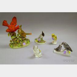 Five Porcelain Animal Figures