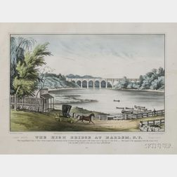 Nathaniel Currier, publisher (American, 1813-1888)      The High Bridge at Harlem N.Y.