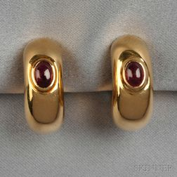 18kt Gold and Ruby Earclips, Chaumet
