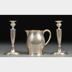 Three American Sterling Classical Revival Tableware Items