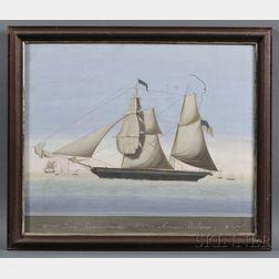 American/Continental School, 19th Century      Brig Perseverance  /Amasa Delano [Master].