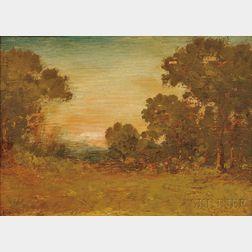 Ralph Albert Blakelock (American, 1847-1919)      Autumn Landscape