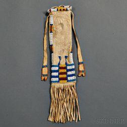 Cheyenne Beaded Hide Pipe Bag