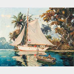 Anthony Thieme (American, 1888-1954)      On the River near Barrios Guatemala