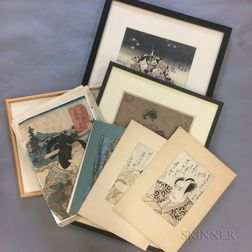 Nine Woodblock Prints