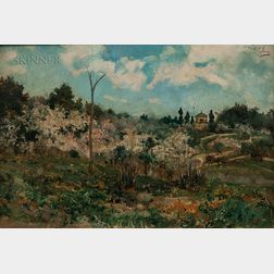 Casimiro Sainz y Saiz (Spanish, 1853-1898)      Spanish Landscape