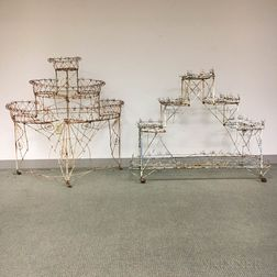 Two Tiered Wirework Plant Stands