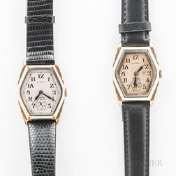 "Two Illinois Watch Co. ""Ritz"" Wristwatches"