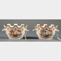 Pair of Continental Porcelain Monteiths