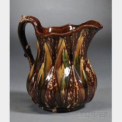 Bennington Pottery Flint Enamel Diamond Pattern Pitcher