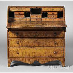 Federal Tiger Maple Slant-lid Desk