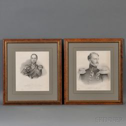Two Engravings of Tsars Nicholas I and Alexander II