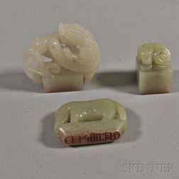 Three Jade and Nephrite Seals