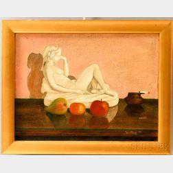 Harry Watrous (American, 1857-1940)    Figurine Still Life