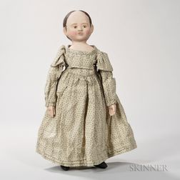 Cloth Izannah Walker-style Art Doll