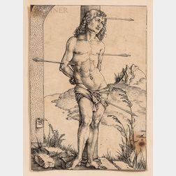 Albrecht Dürer (German, 1471-1528)      Saint Sebastian Bound to the Column