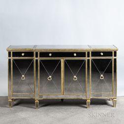Giltwood Mirrored Sideboard