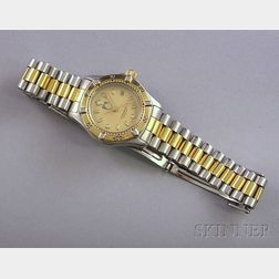 Ladys Stainless Steel Tag Heuer Wristwatch.