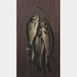 Attributed to John Joseph Enneking (American, 1841-1916)      Hanging Bass