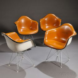Four Eames Chairs, Eiffel Tower Base