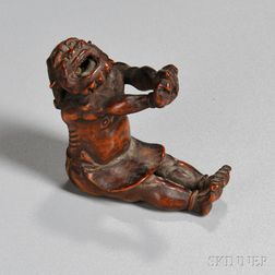 Wood Carving of an Oni