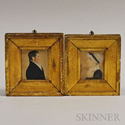 Pair of Framed Portrait Miniatures