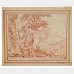 Attributed to François Joullain (French, 1697-1778)      Apollon Écorchant Marsyas
