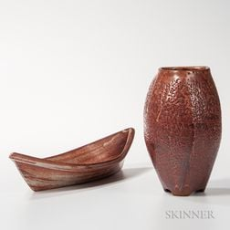 Two Malcolm Wright Studio Pottery Vessels