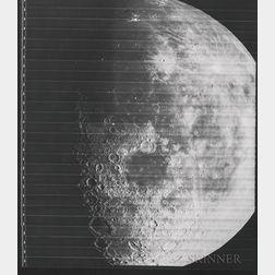 Taken by a Camera Aboard the Lunar Orbiter 4 Spacecraft