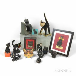 Fourteen Cat-related Items