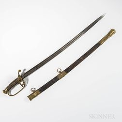 Identified Leech & Rigdon Reverse Floating CS Sword and Scabbard