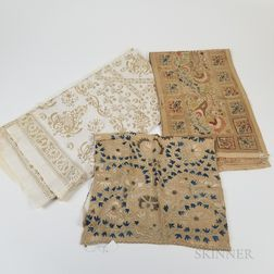 Three Ottoman Silk Embroideries