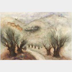 Reuven Rubin (Israeli, 1893-1974)  Road To Galilee
