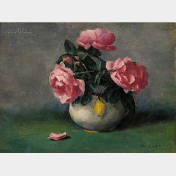 Edmund Franklin Ward  (American, 1892-1991)      Still Life with Roses