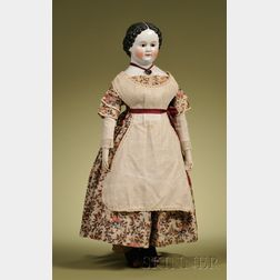 Early China Doll with Glass Eyes